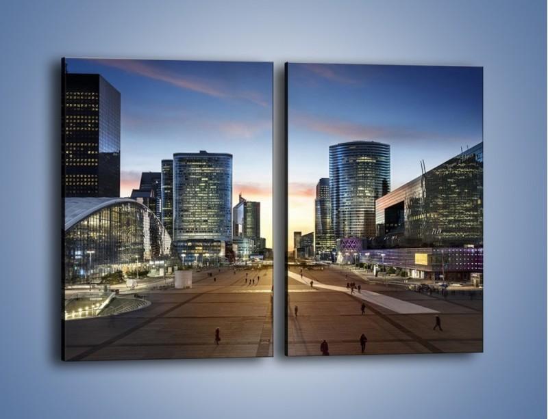 Obraz na płótnie – Quartier La Défense w Paryżu – dwuczęściowy prostokątny pionowy AM647