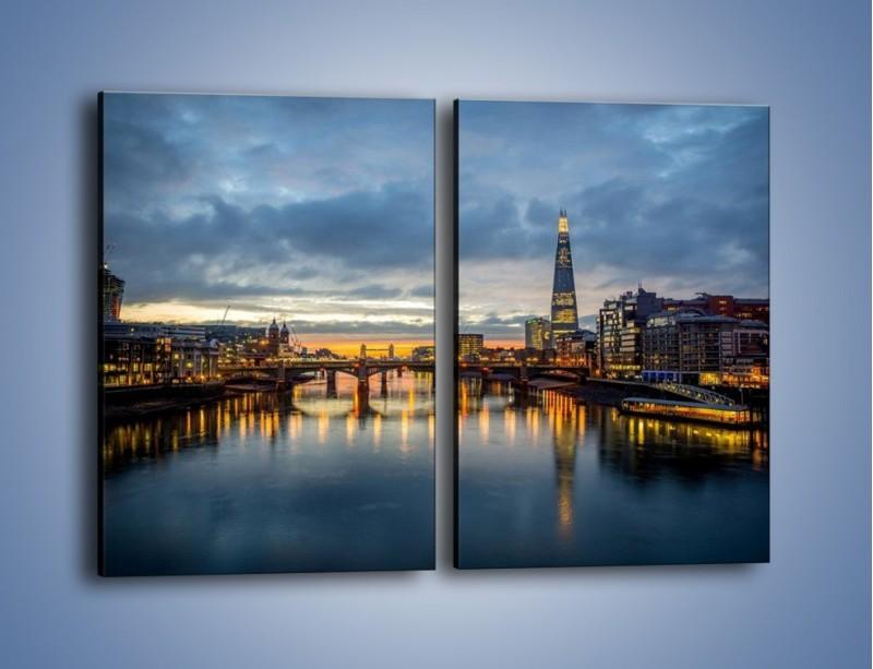 Obraz na płótnie – Millennium Bridge w Londynie – dwuczęściowy prostokątny pionowy AM651