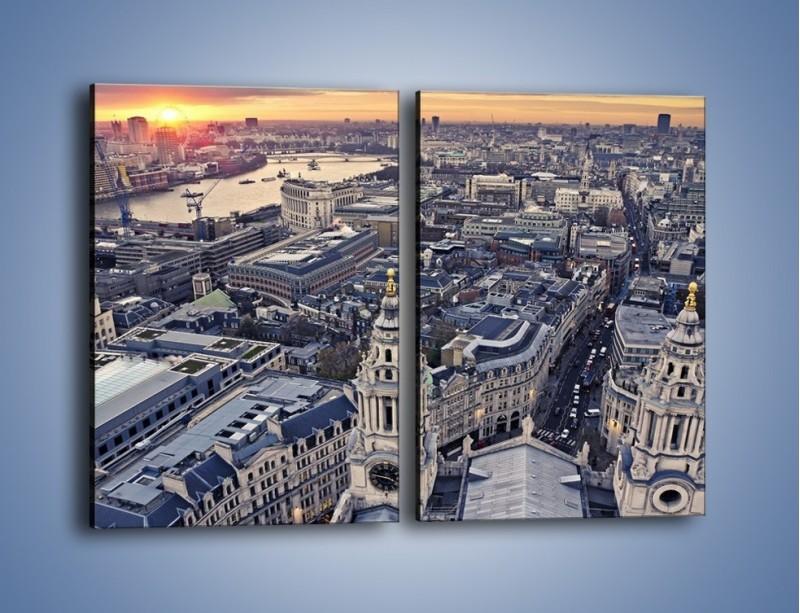 Obraz na płótnie – Widok na Londyn z Katedry św. Pawła – dwuczęściowy prostokątny pionowy AM652
