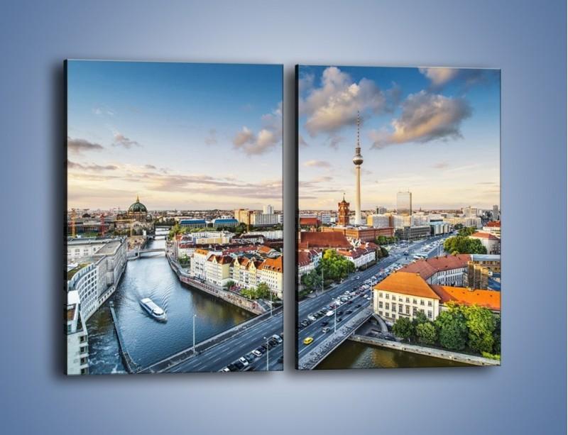 Obraz na płótnie – Panorama Berlina – dwuczęściowy prostokątny pionowy AM673