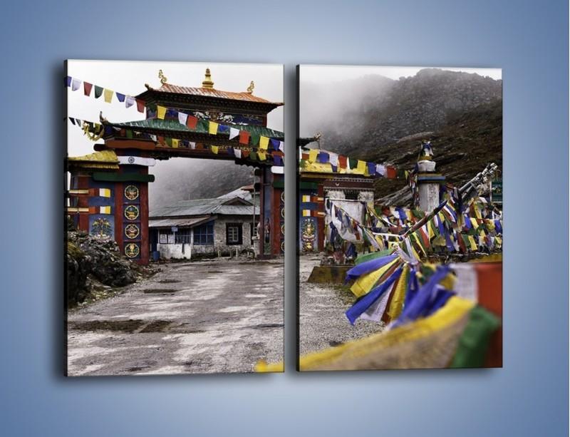Obraz na płótnie – Brama do miasta Tawang w Tybecie – dwuczęściowy prostokątny pionowy AM689