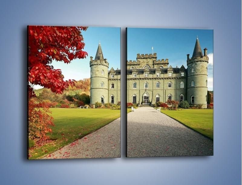 Obraz na płótnie – Zamek Inveraray w Szkocji – dwuczęściowy prostokątny pionowy AM691
