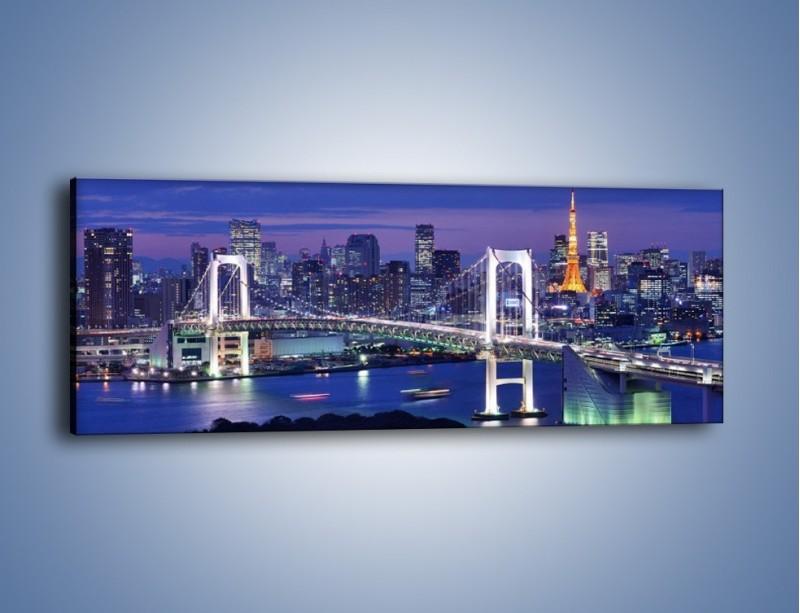 Obraz na płótnie – Tęczowy Most w Tokyo – jednoczęściowy panoramiczny AM460