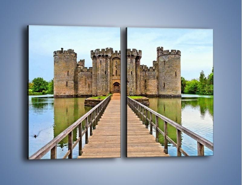 Obraz na płótnie – Zamek Bodiam w Wielkiej Brytanii – dwuczęściowy prostokątny pionowy AM692