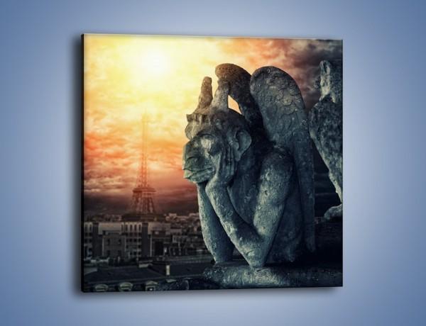 Obraz na płótnie – Paryski gargulec – jednoczęściowy kwadratowy AM741