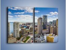 Obraz na płótnie – Boston w stanie Massachusetts – dwuczęściowy prostokątny pionowy AM700