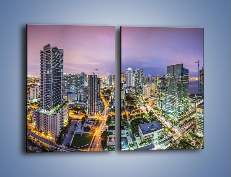 Obraz na płótnie – Centrum Miami – dwuczęściowy prostokątny pionowy AM702
