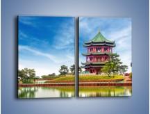 Obraz na płótnie – Chiński ogród w Singapurze – dwuczęściowy prostokątny pionowy AM715