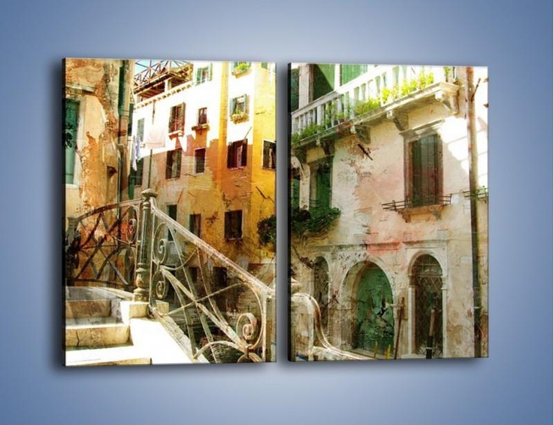 Obraz na płótnie – Wenecka architektura w stylu vintage – dwuczęściowy prostokątny pionowy AM718