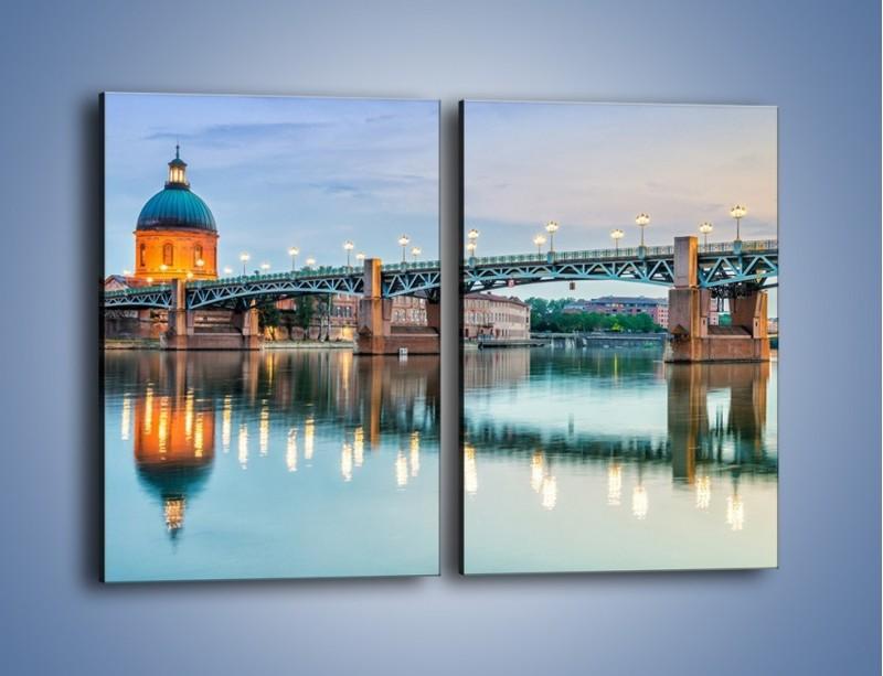 Obraz na płótnie – Most Saint-Pierre w Tuluzie – dwuczęściowy prostokątny pionowy AM721