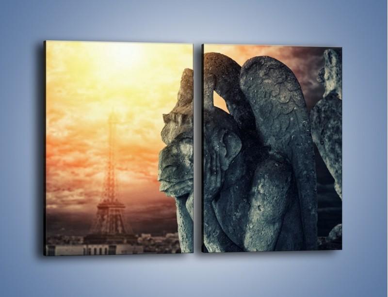 Obraz na płótnie – Paryski gargulec – dwuczęściowy prostokątny pionowy AM741