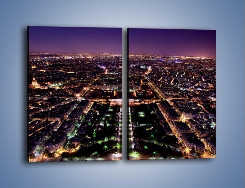 Obraz na płótnie – Panorama Paryża z Wieży Eiffla – dwuczęściowy prostokątny pionowy AM764