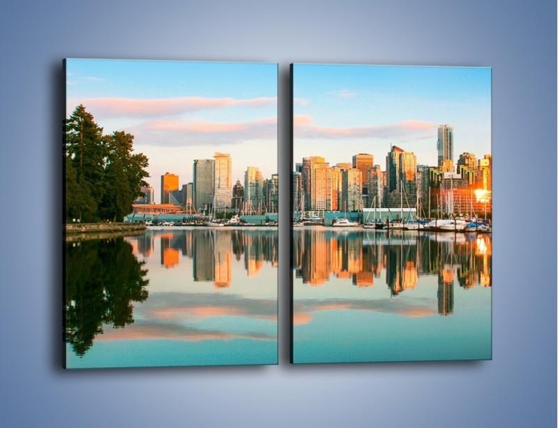 Obraz na płótnie – Widok na Vancouver – dwuczęściowy prostokątny pionowy AM765