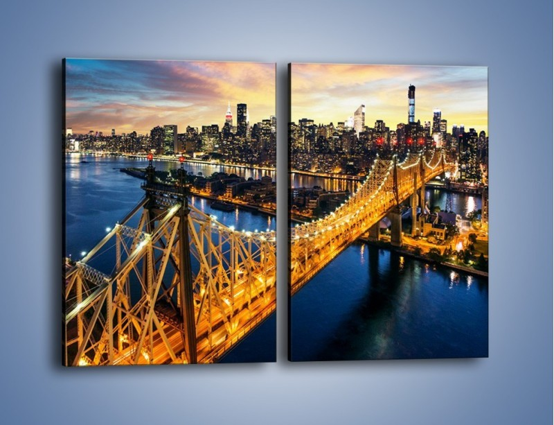 Obraz na płótnie – Queensboro Bridge w Nowym Yorku – dwuczęściowy prostokątny pionowy AM768