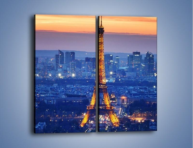 Obraz na płótnie – Światła Wieży Eiffla – dwuczęściowy prostokątny pionowy AM778