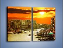 Obraz na płótnie – Zachód słońca nad Wenecją – dwuczęściowy prostokątny pionowy AM792