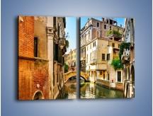Obraz na płótnie – Romantyczny kanał w Wenecji – dwuczęściowy prostokątny pionowy AM795
