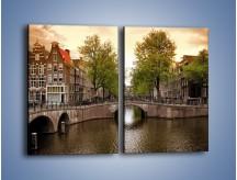 Obraz na płótnie – Amsterdamski kanał – dwuczęściowy prostokątny pionowy AM800