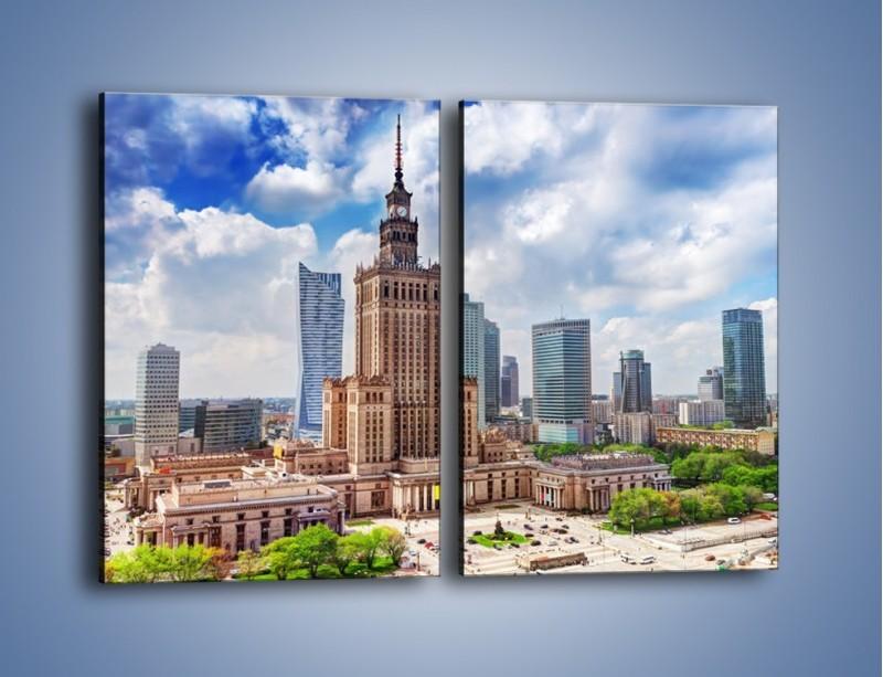 Obraz na płótnie – Pałac Kultury i Nauki w Warszawie – dwuczęściowy prostokątny pionowy AM806