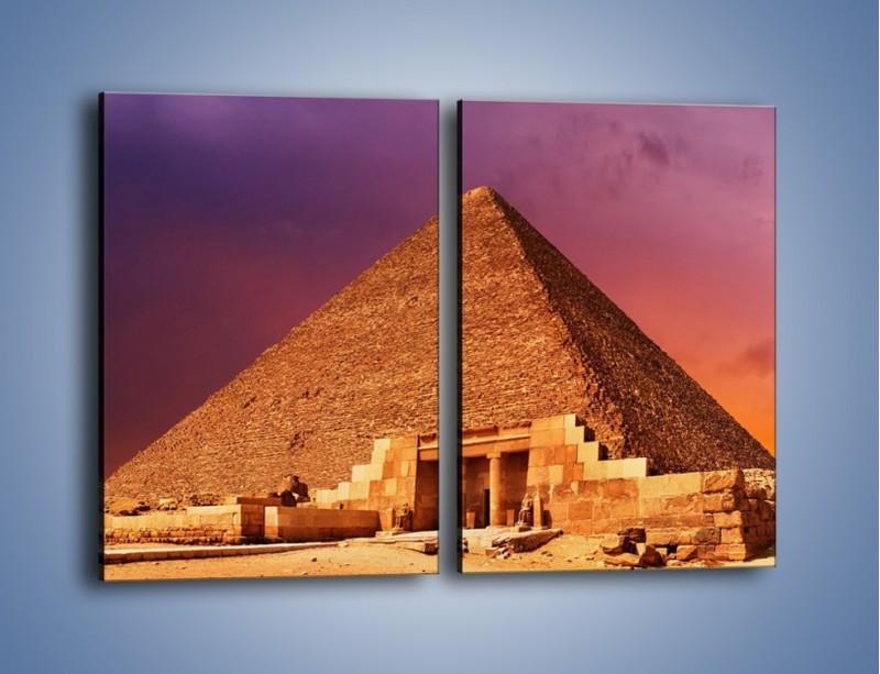 Obraz na płótnie – Piramida w Egipcie – dwuczęściowy prostokątny pionowy AM812
