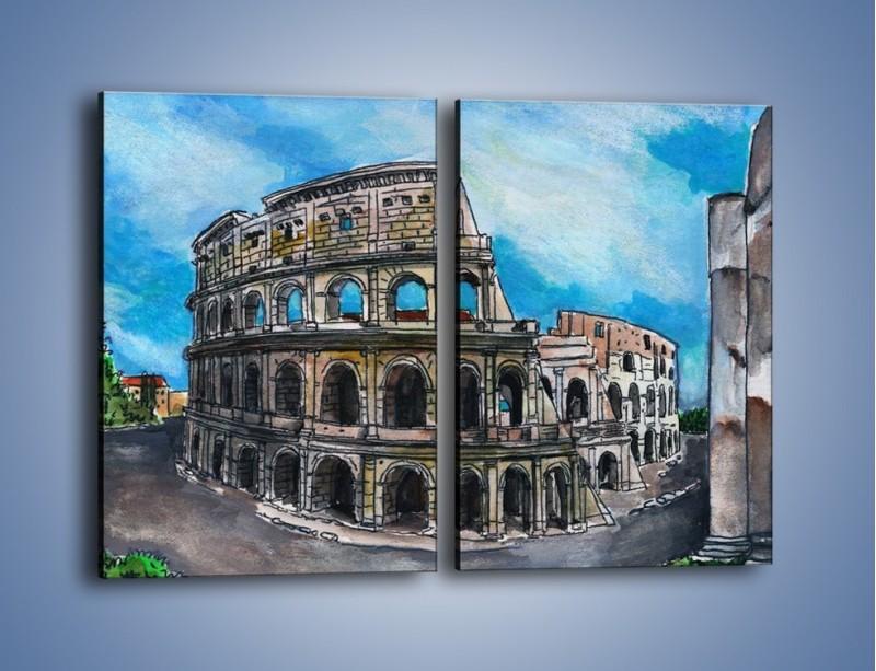 Obraz na płótnie – Znana budowla z bliska – dwuczęściowy prostokątny pionowy GR039