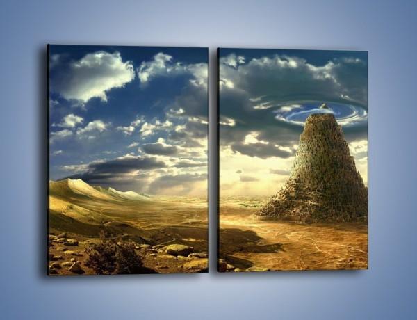 Obraz na płótnie – Przez górę aż do chmur – dwuczęściowy prostokątny pionowy GR139