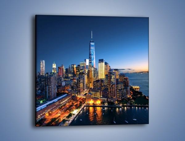 Obraz na płótnie – Zmierzch nad Manhattanem – jednoczęściowy kwadratowy AM749