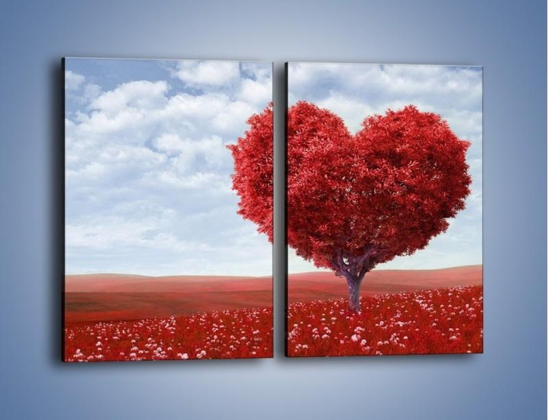 Obraz na płótnie – Polaną w stronę miłości – dwuczęściowy prostokątny pionowy GR249