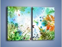 Obraz na płótnie – Baśniowa kraina w kolorach – dwuczęściowy prostokątny pionowy GR270