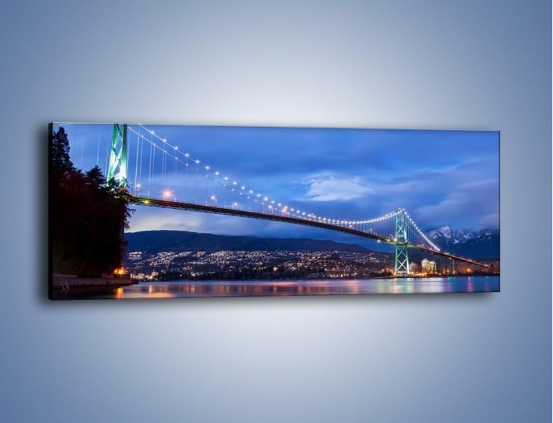 Obraz na płótnie – Most Lions Gate w Vancouver – jednoczęściowy panoramiczny AM471