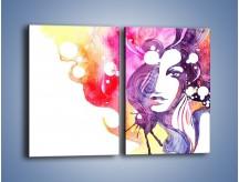 Obraz na płótnie – Barwy w otoczeniu kobiety – dwuczęściowy prostokątny pionowy GR296