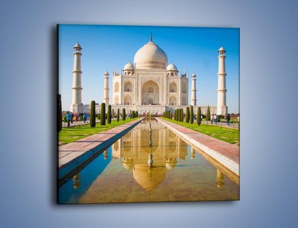 Obraz na płótnie – Taj Mahal pod błękitnym niebem – jednoczęściowy kwadratowy AM750