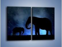 Obraz na płótnie – Córka i mama nocą – dwuczęściowy prostokątny pionowy GR315