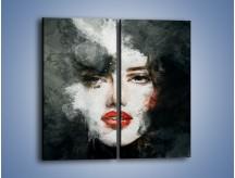 Obraz na płótnie – Czarna dama – dwuczęściowy prostokątny pionowy GR329