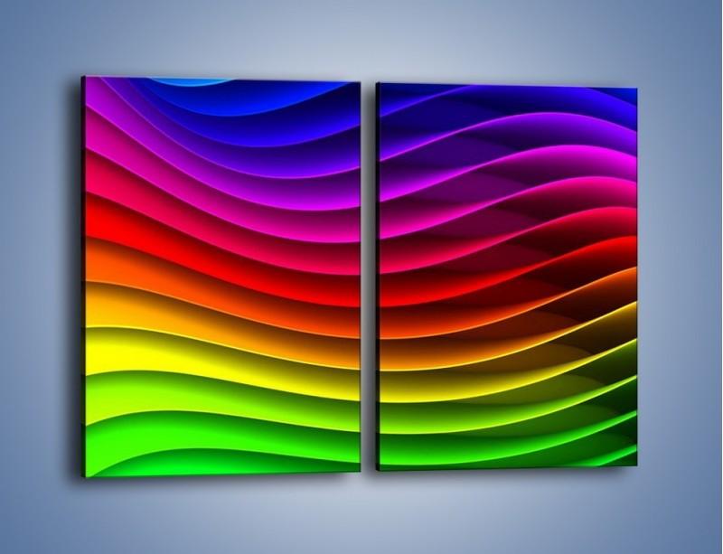 Obraz na płótnie – Falą w kolorze – dwuczęściowy prostokątny pionowy GR393