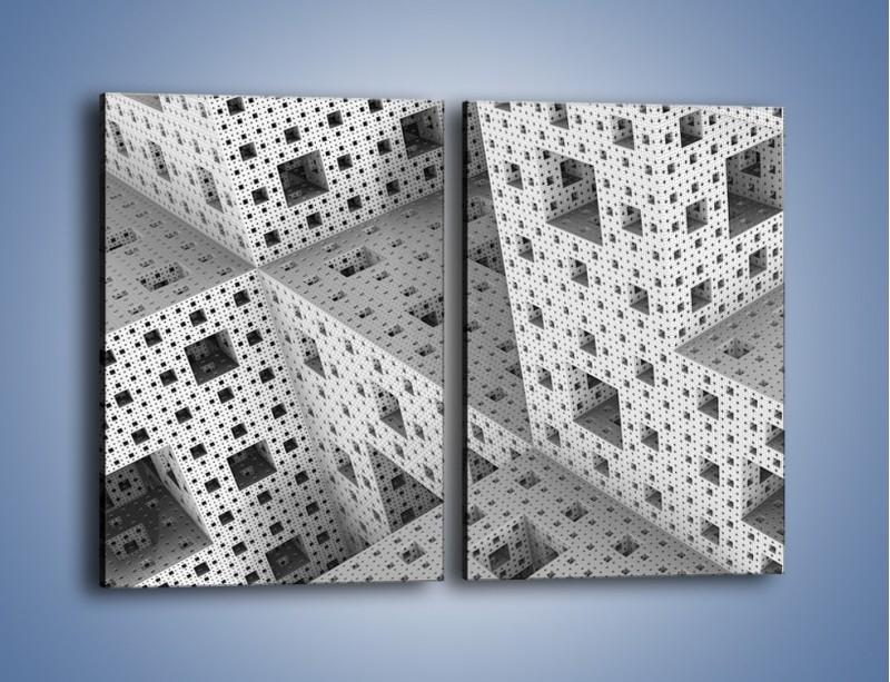 Obraz na płótnie – Budynki z klocków – dwuczęściowy prostokątny pionowy GR410