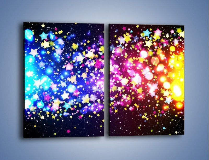Obraz na płótnie – Kolory widziane nocą – dwuczęściowy prostokątny pionowy GR432