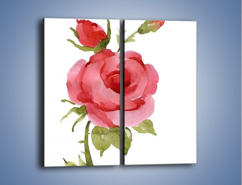 Obraz na płótnie – Róża nie do końca rozwinięta – dwuczęściowy prostokątny pionowy GR501