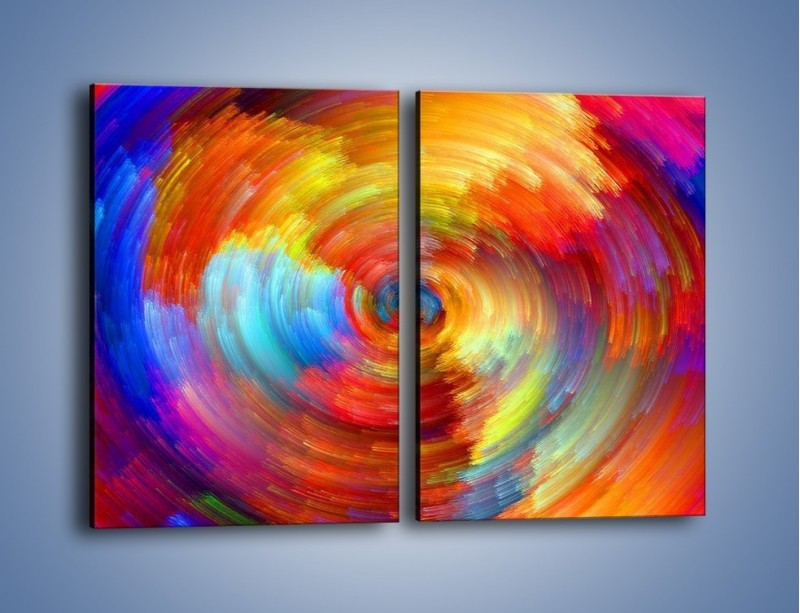 Obraz na płótnie – Kolorowy wir – dwuczęściowy prostokątny pionowy GR502