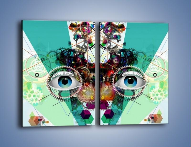 Obraz na płótnie – Mechanicznie otwarte oczy – dwuczęściowy prostokątny pionowy GR504