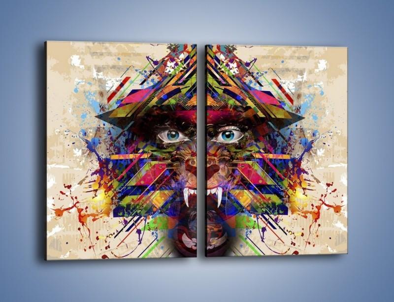 Obraz na płótnie – Groźny mimo kolorów – dwuczęściowy prostokątny pionowy GR515