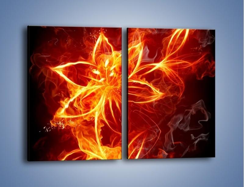 Obraz na płótnie – Spłonąć jak kwiat – dwuczęściowy prostokątny pionowy GR527