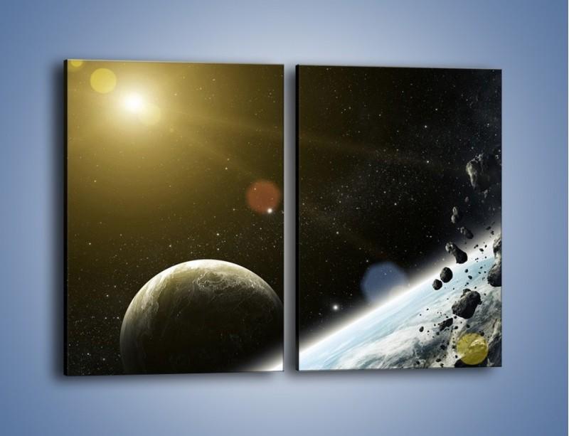 Obraz na płótnie – Dotrzeć między planety – dwuczęściowy prostokątny pionowy GR534