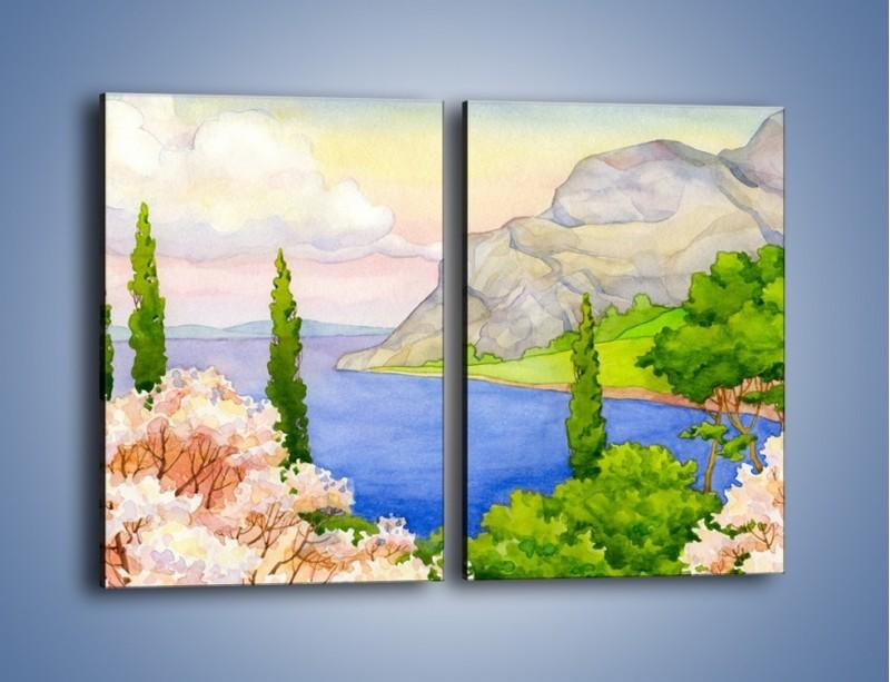 Obraz na płótnie – Krajobraz jak z pocztówki – dwuczęściowy prostokątny pionowy GR541