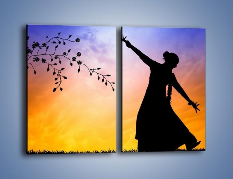 Obraz na płótnie – Wieczorny cygański taniec – dwuczęściowy prostokątny pionowy GR597