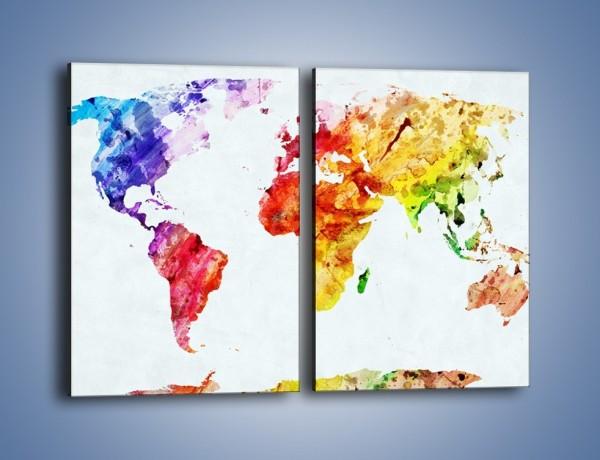 Obraz na płótnie – Kontynenty w jesiennych barwach – dwuczęściowy prostokątny pionowy GR606
