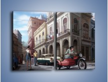 Obraz na płótnie – Codzienne życie na kubie – dwuczęściowy prostokątny pionowy GR627