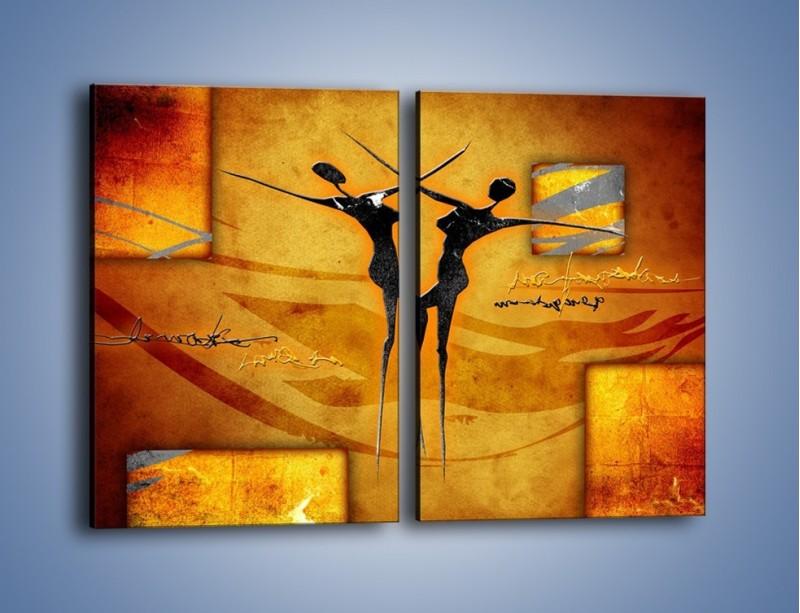 Obraz na płótnie – Dotyk w tańcu – dwuczęściowy prostokątny pionowy GR633