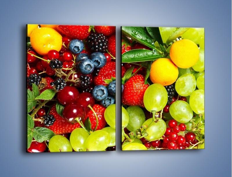 Obraz na płótnie – Wymieszane kolorowe owoce – dwuczęściowy prostokątny pionowy JN037