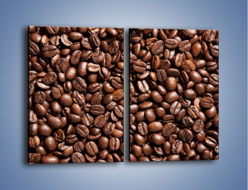Obraz na płótnie – Ziarna świeżej kawy – dwuczęściowy prostokątny pionowy JN061